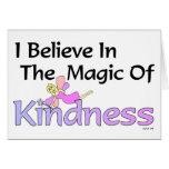 Creo en la magia de la amabilidad le agradezco car felicitación