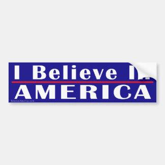 Creo en la pegatina para el parachoques de América Pegatina De Parachoque