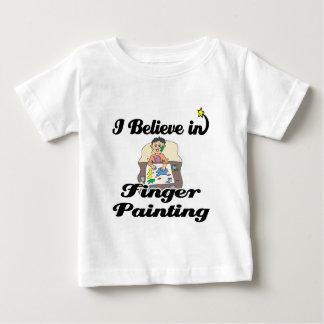 creo en la pintura de dedo playeras