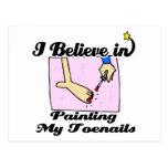 creo en la pintura de mis uñas del pie postal