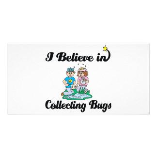 creo en la recogida de insectos tarjetas fotograficas personalizadas