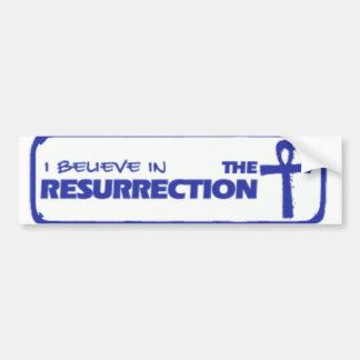 creo en la resurrección pegatina para auto