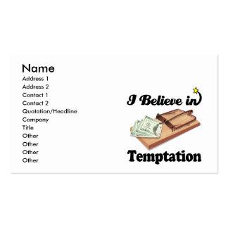creo en la tentación plantilla de tarjeta de negocio