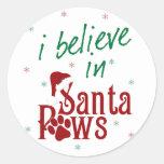 Creo en las patas de Santa Pegatinas Redondas