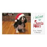 Creo en las patas de Santa Tarjeta Con Foto Personalizada