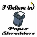 creo en las trituradoras de papel escultura fotográfica