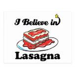 creo en lasagna postal