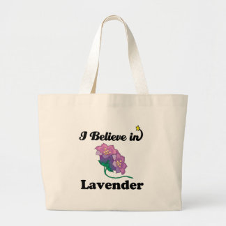 creo en lavanda bolsa tela grande