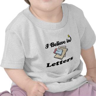creo en letras camisetas