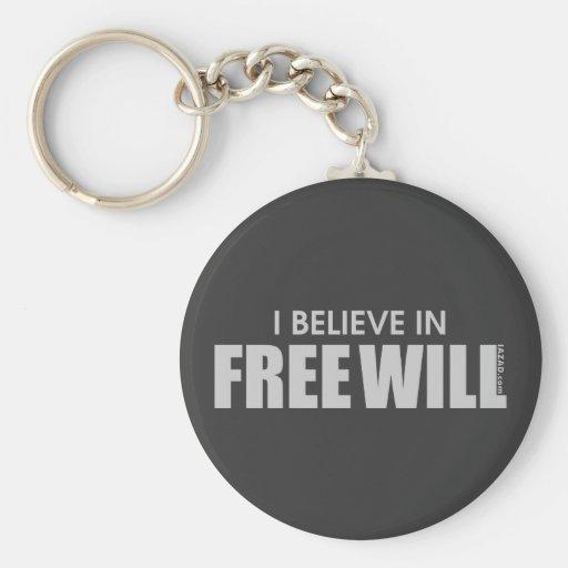 Creo en libre albedrío llavero personalizado