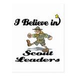 creo en líderes del explorador tarjetas postales