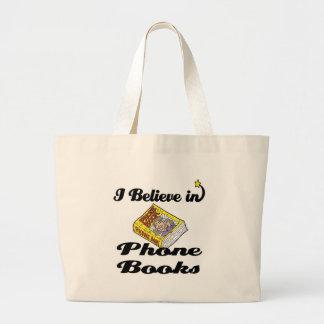 creo en listines de teléfonos bolsa tela grande
