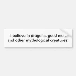 Creo en los dragones - pegatina para el parachoque pegatina de parachoque