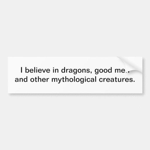 Creo en los dragones - pegatina para el parachoque pegatina para auto