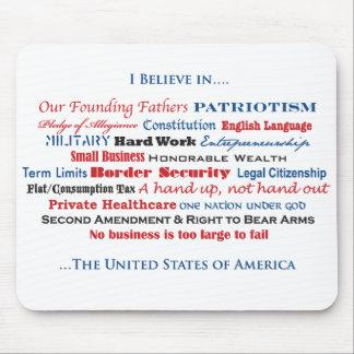 Creo en los Estados Unidos Alfombrilla De Raton