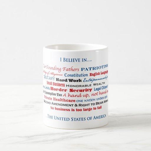 Creo en los Estados Unidos Taza De Café