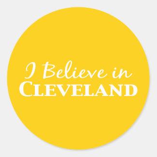 Creo en los regalos de Cleveland Pegatina Redonda