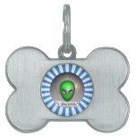Creo en los UFO Placa De Nombre De Mascota