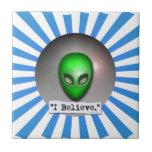 Creo en los UFO Teja Ceramica