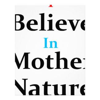 Creo en madre naturaleza membrete personalizado