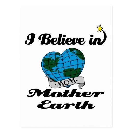 creo en madre tierra tarjeta postal