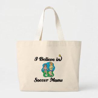 creo en mamáes del fútbol bolsa tela grande