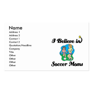 creo en mamáes del fútbol tarjeta personal