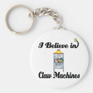 creo en máquinas de la garra llavero redondo tipo pin