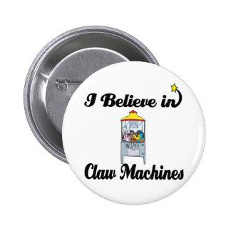 creo en máquinas de la garra pin redondo 5 cm