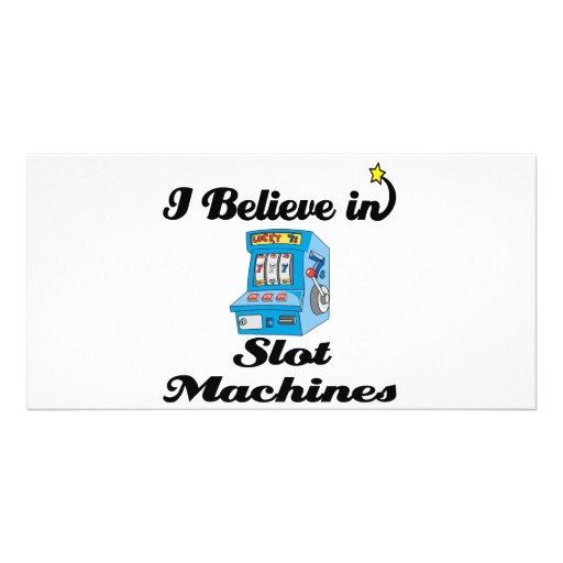 creo en máquinas tragaperras tarjeta personal con foto