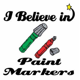 creo en marcadores de la pintura fotoescultura vertical