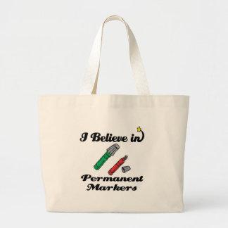creo en marcadores permanentes bolsas de mano