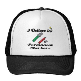 creo en marcadores permanentes gorras