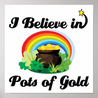 creo en minas de oro poster