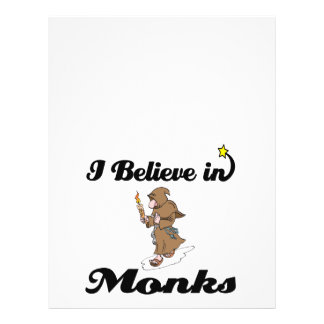 creo en monjes flyer personalizado
