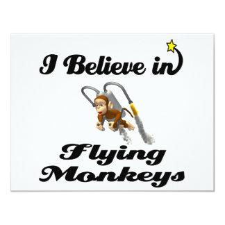 """creo en monos del vuelo invitación 4.25"""" x 5.5"""""""