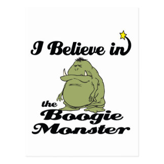 creo en monstruo de la boogie tarjetas postales