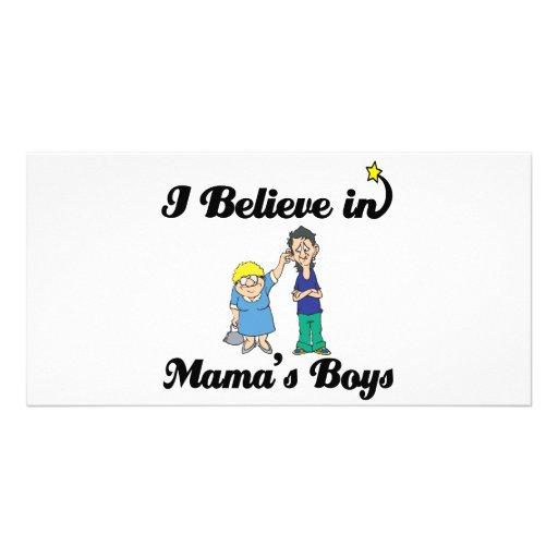 creo en muchachos de las mamáes tarjeta fotografica
