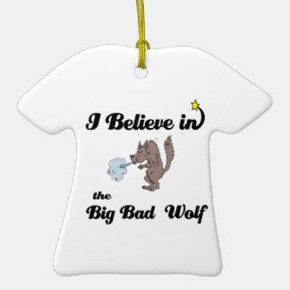 creo en mún lobo grande ornamentos de reyes