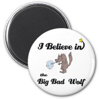 creo en mún lobo grande iman de nevera