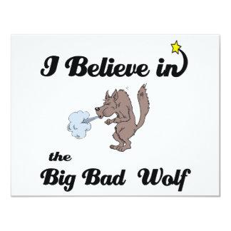 creo en mún lobo grande invitaciones personalizada