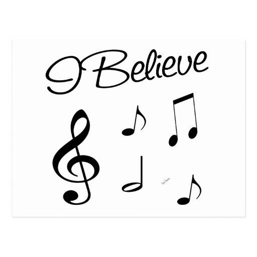 Creo en música postal