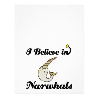 """creo en narwhals folleto 8.5"""" x 11"""""""