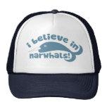 Creo en Narwhals Gorras De Camionero