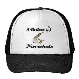 creo en narwhals gorro