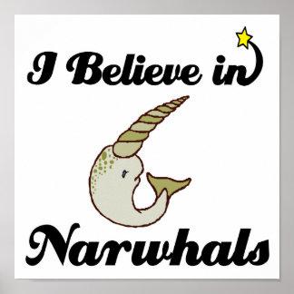 creo en narwhals posters