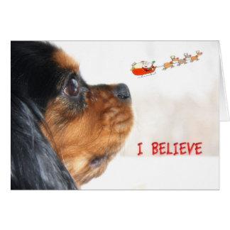 Creo en navidad con rey arrogante Charles Tarjeta De Felicitación