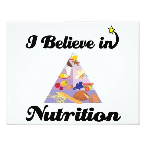 creo en nutrición invitacion personal