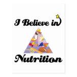 creo en nutrición tarjetas postales