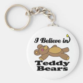 creo en osos de peluche llaveros